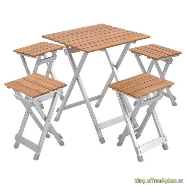 Bambusový piknikový stůl pro 4 osoby