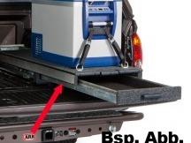 Outback výsuv Modular se zásuvkou 505x1355x140 mm (vnější) šedý