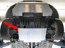 Asfir kryt převodovky Fiat Panda 4x4,